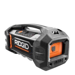 RIDGID 18-Volt Lithium-Ion Cordless Bluetooth Charging Radio (Tool Only)