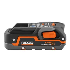 RIDGID 18-Volt Cordless Mini Bluetooth Radio with Radio App with 1.5 Ah Battery and 18-Volt Charger