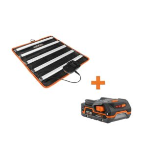 RIDGID 18-Volt Cordless LED Mat Light with 1.5 Ah Lithium-Ion Battery
