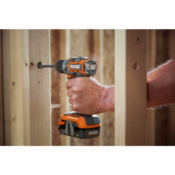 RIDGID 18V SubCompact Li-Ion Brushless 1/2 in. Drill Kit with 3/8 in. Impact Wrench, (2) 2.0 Ah Battery, Charger, and Bag