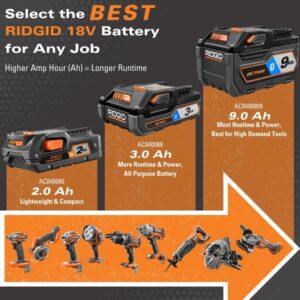 RIDGID 18-Volt Lithium-Ion Brushless 5-Tool Combo Kit with Bonus 1.5 Ah Battery (2-Pack)