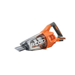 RIDGID 18-Volt Cordless Hand Vacuum (Tool Only) with Crevice Nozzle, Utility Nozzle and Extension Tube