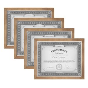 DesignOvation Gallery 8.5 in. x 11 in. Rustic Brown Wood Picture Frame (Set of 4)