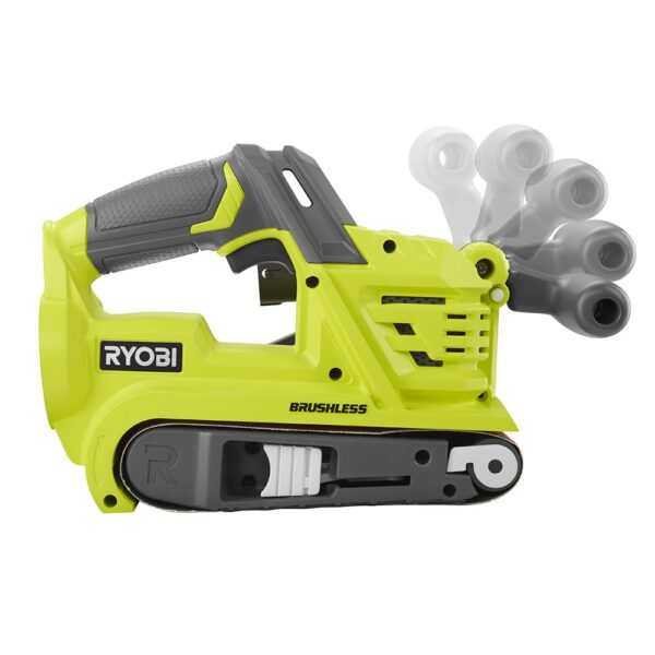 RYOBI 18-Volt ONE+ Cordless Brushless 3 in. x 18 in. Belt Sander with 4.0 Ah Lithium-Ion Battery