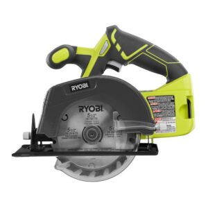 RYOBI 18-Volt ONE+ Cordless 5-1/2 in. Circular Saw with (1) 4.0 Ah Lithium-Ion Battery and 18-Volt Charger