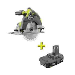 RYOBI 18-Volt ONE+ Cordless 6-1/2 in. Circular Saw with 1.5 Ah Compact Lithium-Ion Battery