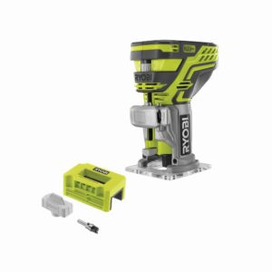 RYOBI ONE+ 18V Cordless Fixed Base Trim Router (Tool Only) with Tool Free Depth Adjustment with Router Latch Mortiser