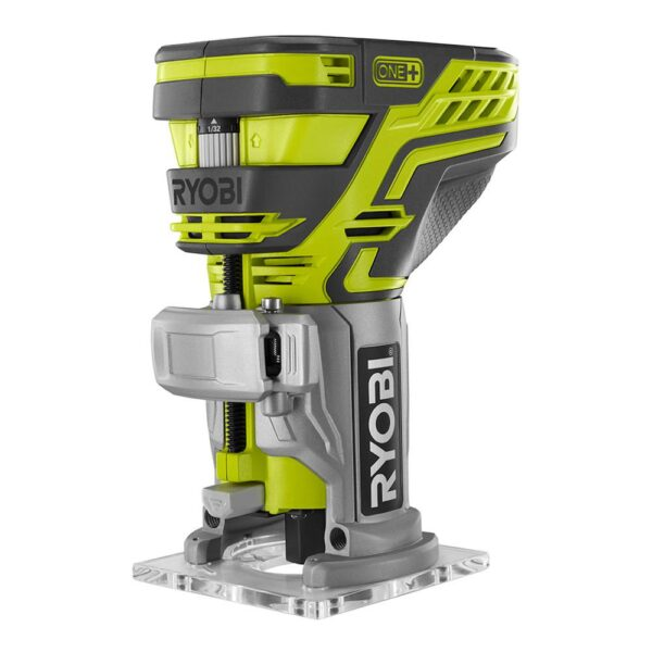 RYOBI 18-Volt ONE+ Cordless Fixed Base Trim Router with Tool Free Depth Adjustment with 2.0 Ah Battery and Charger Kit