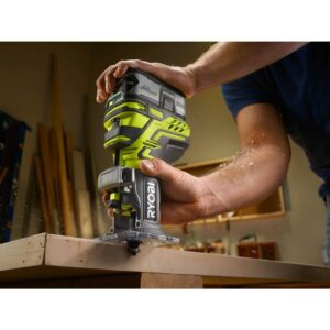 RYOBI 18-Volt ONE+ Lithium-Ion Cordless Fixed Base Trim Router and 5 in. Random Orbit Sander (Tools Only)