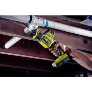 RYOBI ONE+ HP 18V Brushless Cordless Compact 1/4 in. Impact Driver and One-Handed Recip Saw Kit with (2) Batteries, Charger