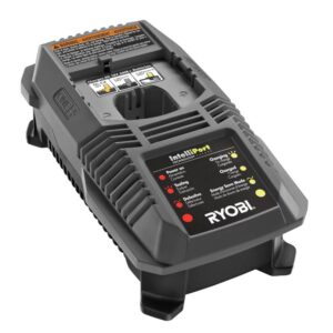 RYOBI 18-Volt ONE+ Cordless Compact Radio with Lithium-Ion 2.0 Ah Battery and Dual Chemistry IntelliPort Charger Kit