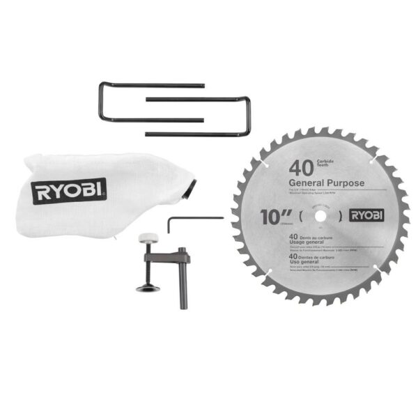 RYOBI 15 Amp 10 in. Sliding Compound Miter Saw and 18-Volt Cordless Airstrike ONE+ Pin Nailer Kit