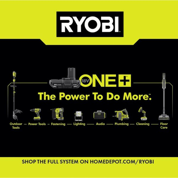 RYOBI 18-Volt ONE+ Lithium-Ion Cordless 3-1/4 in. Planer and Fixed Base Trim Router w/Tool Free Depth Adjustment (Tools Only)