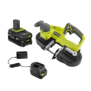 RYOBI ONE+ 18V Cordless 2-1/2 in. Compact Band Saw Kit with (1) 4.0 Ah Lithium-ion Battery and 18V Charger
