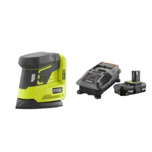 RYOBI 18-Volt ONE+ Corner Cat Finish Sander with 2.0 Ah Battery and Charger Kit