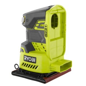 RYOBI 18-Volt ONE+ Cordless 1/4 Sheet Sander with Dust Bag with 2.0 Ah Battery and Charger Kit