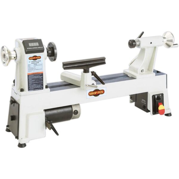 Shop Fox 12 in. x 18 in. 120-Volt 3/4 HP Variable Speed Benchtop Wood Lathe