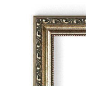 Amanti Art Parisian 19 in. W x 23 in. H Framed Rectangular Beveled Edge Bathroom Vanity Mirror in Silver