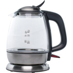 Brentwood Appliances 4.2-Cup Black Cordless Glass Electric Kettle
