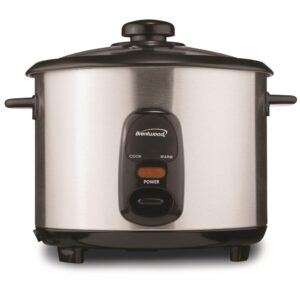 Brentwood 10-Cup Silver Rice Cooker
