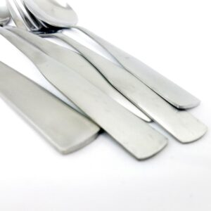 Gibson Home Abbeville 61-Piece Stainless Steel Flatware Set with Wire Caddy (Service for 12)