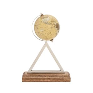 LITTON LANE 14 in. Rustic Globe with Triangular Stand