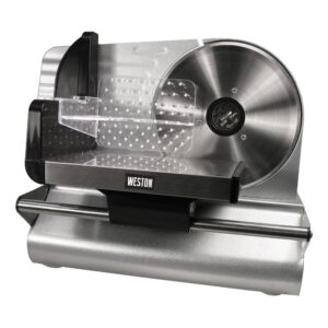 Weston 200 W 7.5 in. Silver Electric Meat Slicer