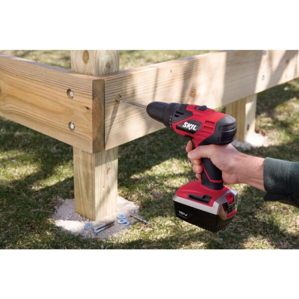 Skil 18-Volt Ni-Cad 1/2 in. Cordless Electric Variable Speed Power Drill/Driver Kt with Carrying Case