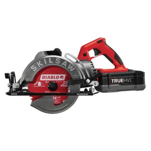 SKILSAW TRUEHVL 48-Volt Cordless 7-1/4 in. Worm Drive Saw Kit with TRUEHVL Battery and Diablo Blade