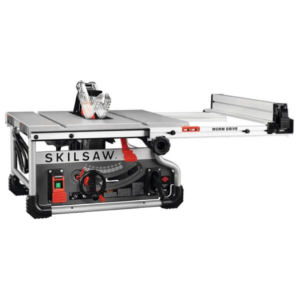 SKILSAW 8-1/4 in. 15 Amp Corded Electric Portable Worm Drive Table Saw, Diablo Blade
