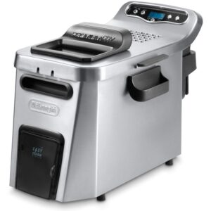 DeLonghi Dual Zone Digital 4L Stainless Steel Deep Fryer with Easy Clean Drain System - D24527DZ
