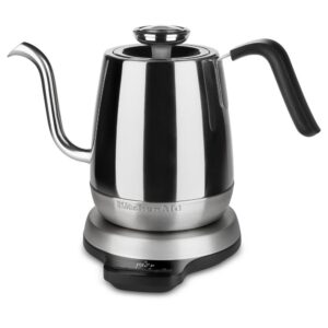 KitchenAid Precision 4.25-Cup Gooseneck Stainless Steel Electric Kettle with Alarm