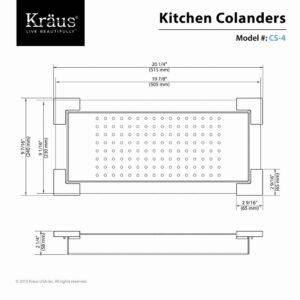 KRAUS Stainless Steel Colander