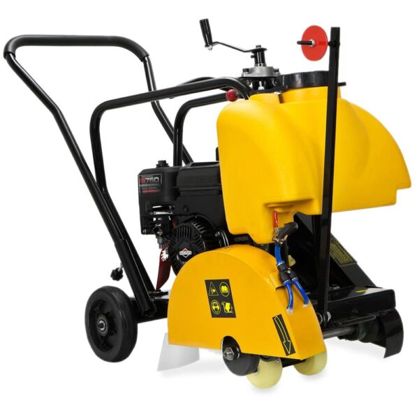 Stark 14 in. Concrete Cut-Off Walk-Behind Saw Power Floor Cutter Unit w/Water Tank System, 5.5 HP Briggs and Stratton Engine