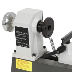 Stark 10 in. x 18 in. 5 Grate Variable-Speed Benchtop Wood Lathe in Gray with Low Noise