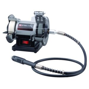 Steel Core 3 in. Mini Multi-Purpose Bench Grinder and Polisher with Buffing Wheel