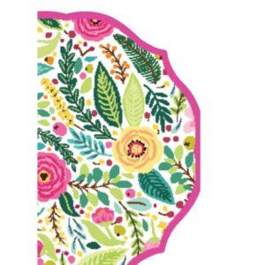 Sugar Plum Party Salad Plate Spring Blossoms (16-Piece)
