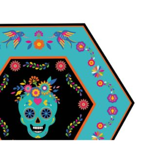 Sugar Plum Party Dinner Plate Day of Dead (16-Piece)