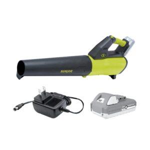 Sun Joe 100 MPH 385 CFM 24-Volt Turbine Cordless Jet Blower Kit with 2.0 Ah Battery + Charger