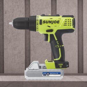 Sun Joe 24-Volt 0.5 in. Chuck Lithium-iON Cordless Drill/Driver Kit with 2.0 Ah Battery + Charger