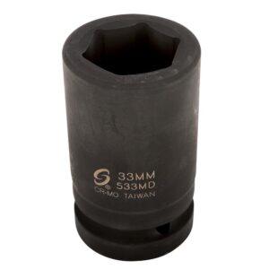 SUNEX TOOLS 1 in. Drive Deep Metric Impact Socket