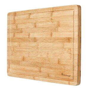 Heim Concept Premium Bamboo Cutting Board and Serving Tray with Drip Groove