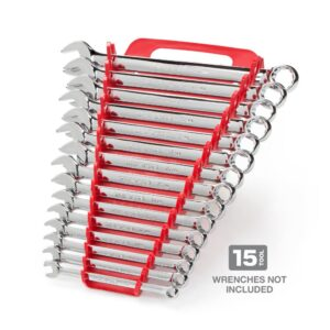TEKTON 7.5 in. 15-Tool Store-and-Go Wrench Rack Keeper in Red