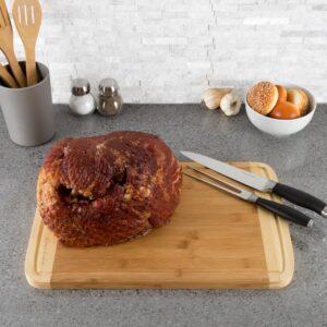 Classic Cuisine Wooden 2-Tone Cutting Board