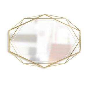 Umbra Prisma Mirror Clear Brass (22.38 in. H 17 in. W )