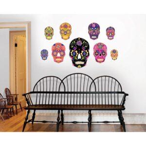 WallPops 39 in. x 34.5 in. Skulls Large Wall Art Kit
