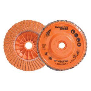 WALTER SURFACE TECHNOLOGIES ENDURO-FLEX Turbo 4.5 in. x 5/8-11 in. Arbor GR36/60 Blending Flap Disc (10-Pack)
