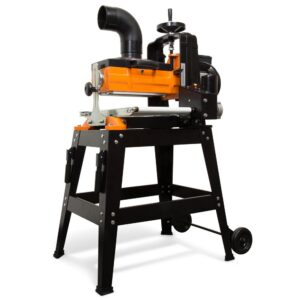 WEN 10.5 Amp 10 in. Drum Sander with Rolling Stand and Variable Speed Conveyor