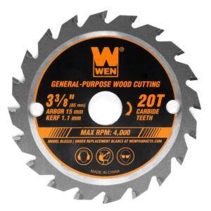 WEN 3-3/8 in. 20-Tooth Professional Woodworking Saw Blade for Compact and Mini Circular Saws