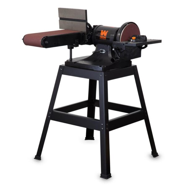 WEN 6 x 48-Inch Belt and 9-inch Disc Sander with Stand